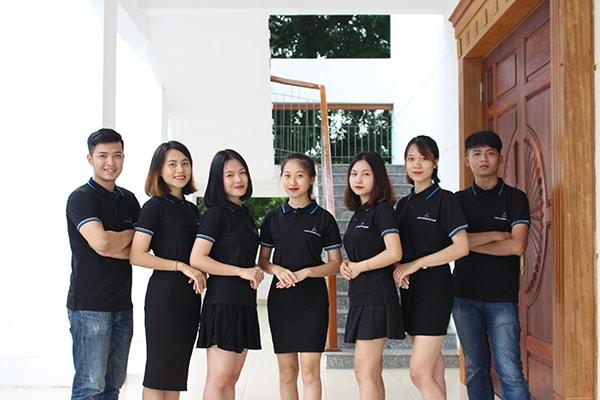 áo phông đồng phục công ty màu đen