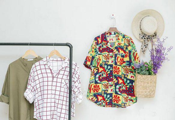 Các mẫu áo oversize đang hot trên thị trường.