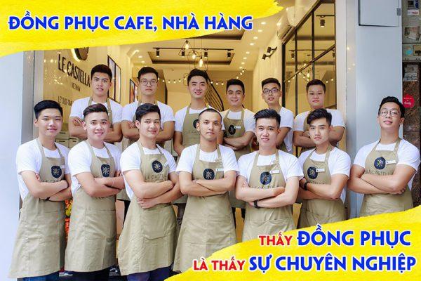 Áo thun đồng phục nhà hàng quán cafe