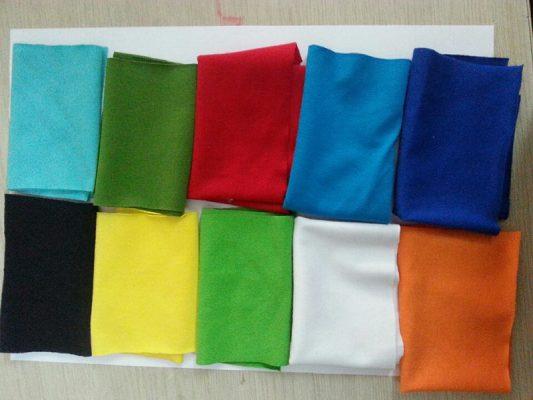 Vải cotton dùng trong may áo thun đồng phục công ty