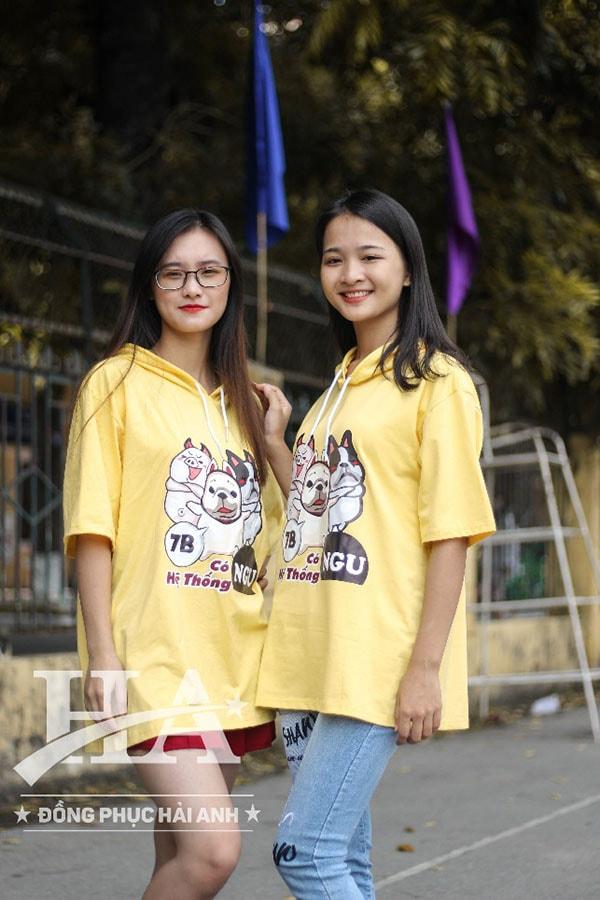 áo lớp t-dee fly-z màu vàng