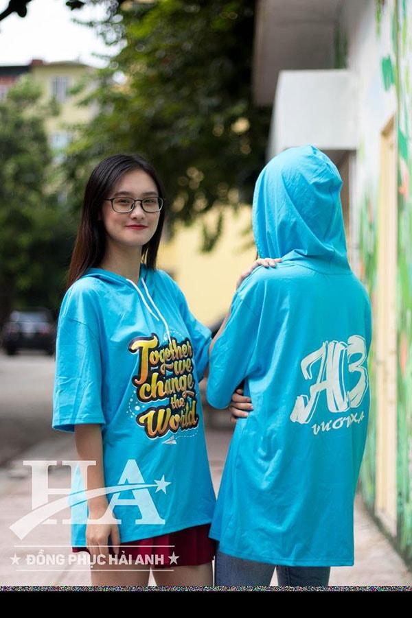 áo lớp t-dee fly-z màu xanh