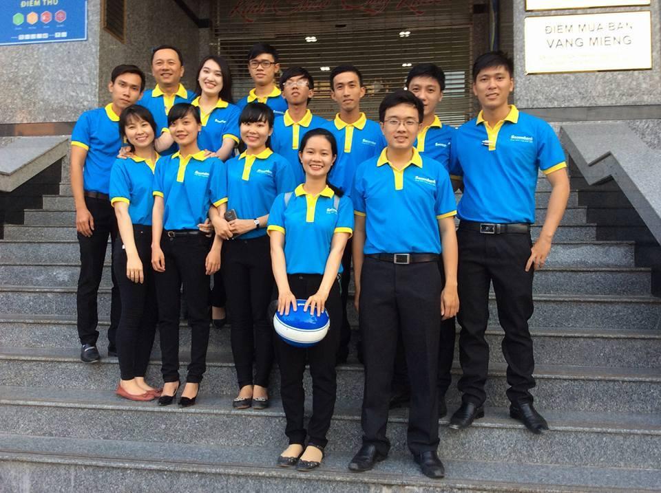 Mẫu áo thun đồng phục ngân hàng Sacombank