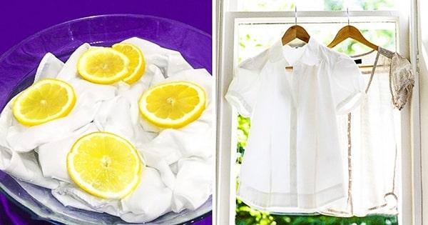 Cách khắc phục quần áo bị ra màu từ bộ ba giấm, phèn chua chanh có tác dụng khử tạp chất bên trong màu nhuộm rất tốt