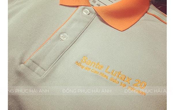Thêu vi tính logo Sante Lutax
