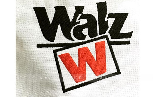 Thêu vi tính logo Walz
