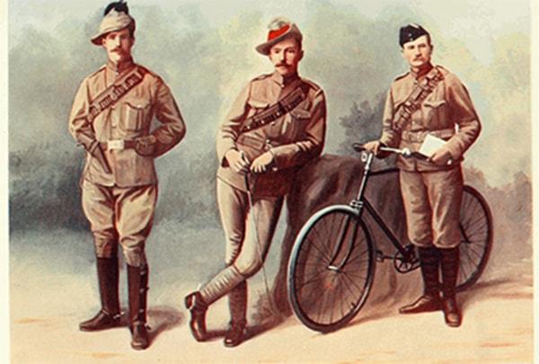 Vải kaki dùng để may quân phục cho người lính thời chiến