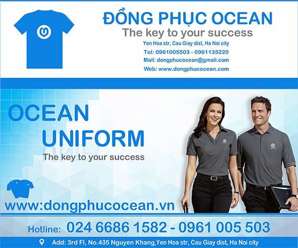 Xưởng may áo thun đồng phục đẹp Ocean