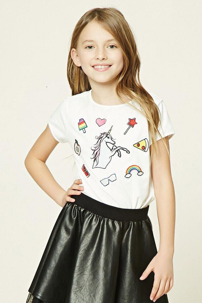 Áo thun bé gái ngắn tay được coi là dòng sản phẩm được ưa chuộng nhất hiện nay.