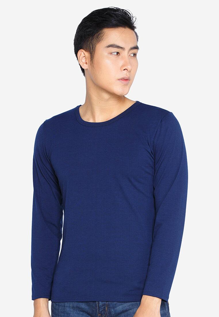 Áo thun cổ tròn cho nam màu xanh navy