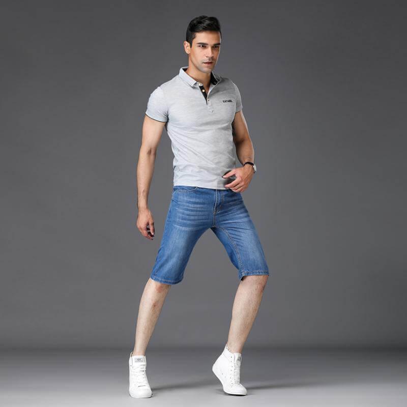 Mix áo thun polo nam cùng quần short