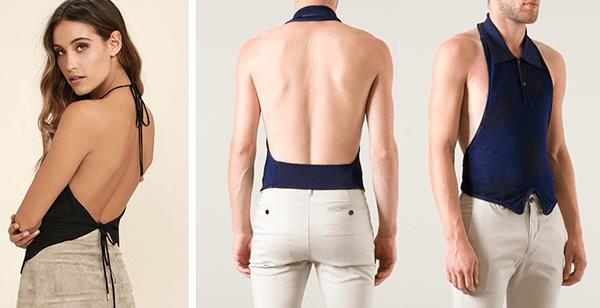 Áo thun tanktop kiểu dáng áo Halter top dành cho nam và nữ