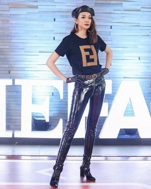 Siêu mẫu Thanh Hằng đầy quyền lực khi diện mẫu áo thun Fendi