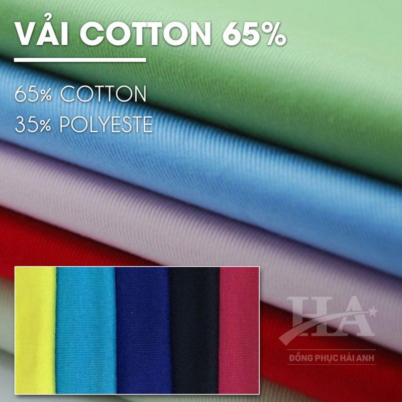 Vải may áo thun cotton 65/35