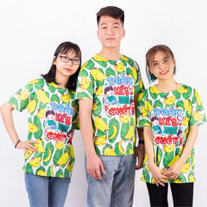 áo lớp 3d hoa quả màu xanh
