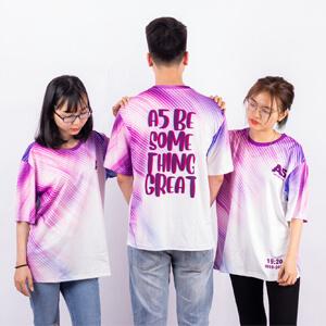 mẫu áo lớp 3d màu tím