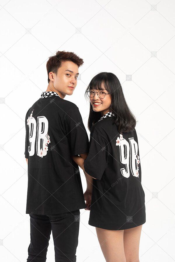 Áo lớp caro màu đen 9B