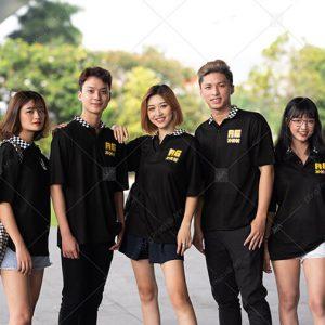 Áo lớp caro màu đen A6