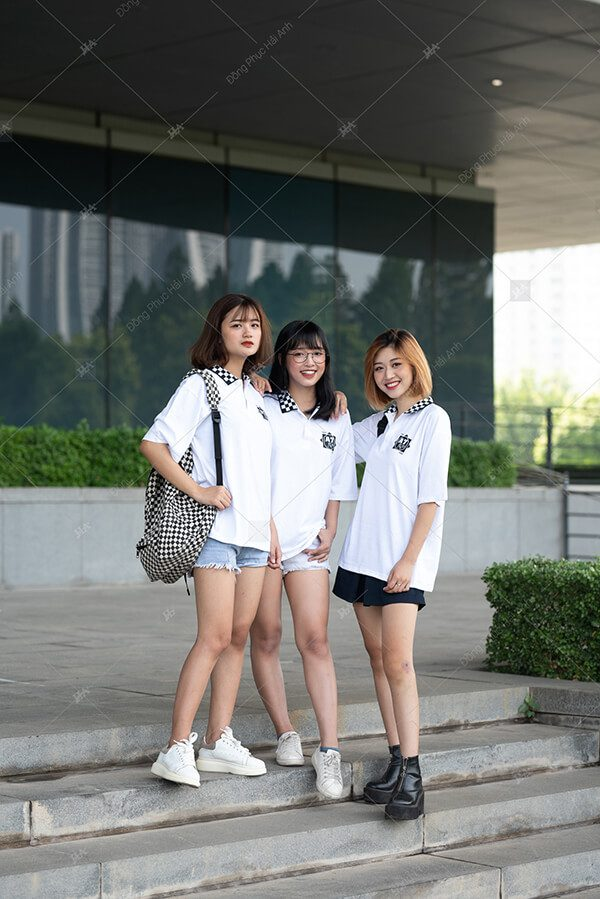 Áo lớp caro màu trắng 10A7