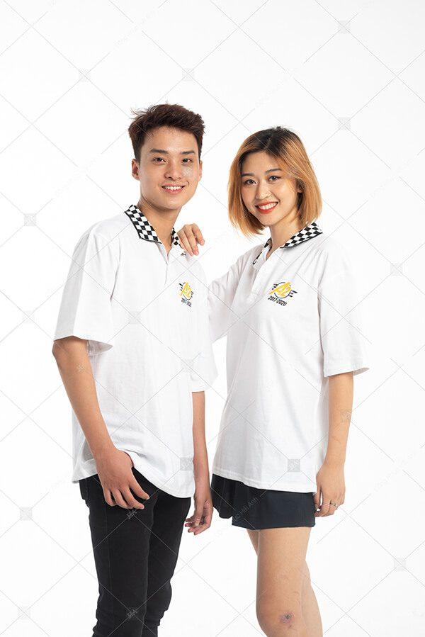 Áo lớp caro màu trắng A2