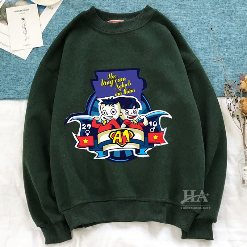 Mẫu áo lớp sweater đẹp 05
