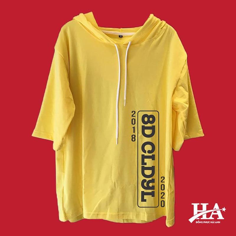 Mẫu áo lớp T-dee màu vàng