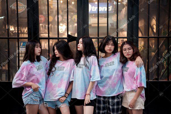Mẫu áo lớp tie dye đẹp 07