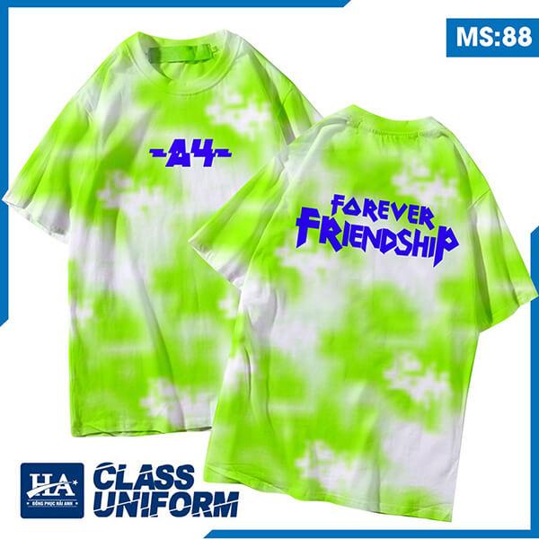 "Slogan áo lớp chuyên Anh ""A4-Forever Friendship"""
