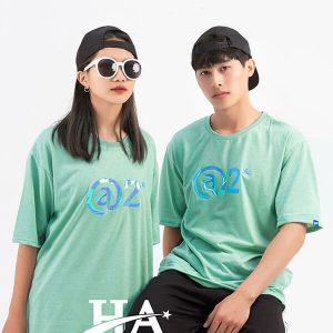 Mẫu áo lớpHologrammàu xanh Sea A2