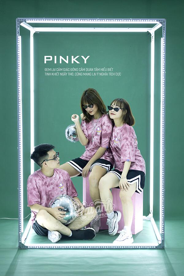 Mẫu áo lớp Patchy Pinky