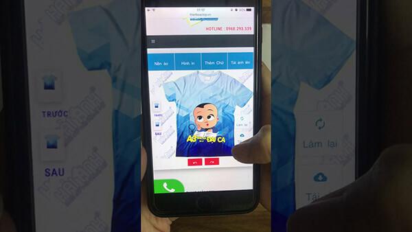 Download phần mềm thiết kế áo lớp trên điện thoại, vừa tiện vừa nhanh