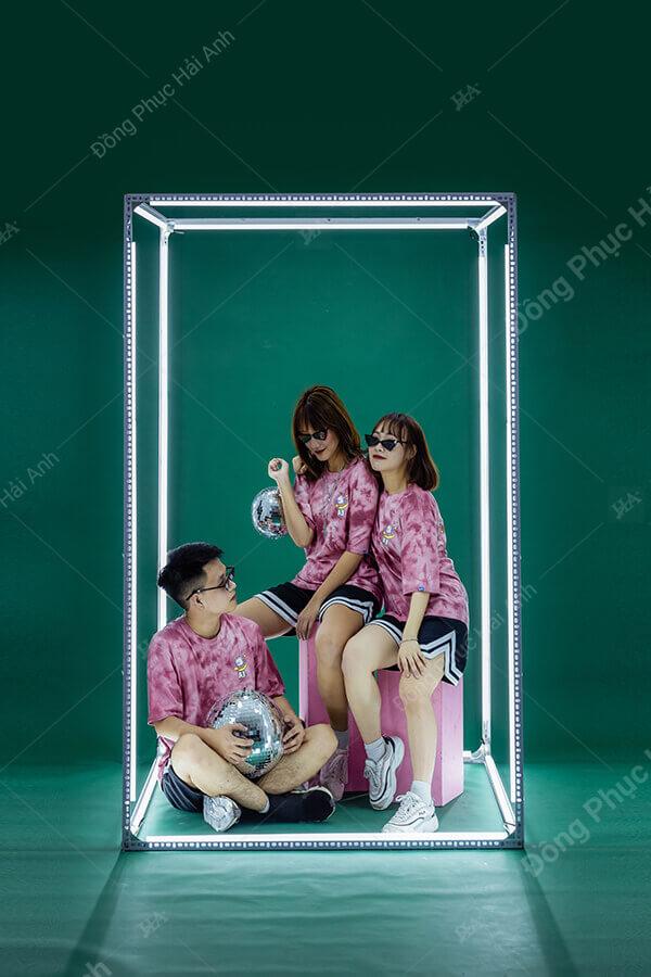 Mẫu áo lớp Patchy Pinky 01