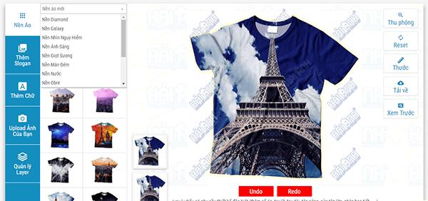Phần mềm tự thiết kế áo lớp online của Đồng phục Hải Anh