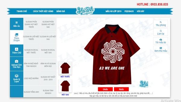 phần mềm làm áo lớp online