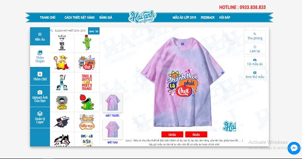 website làm logo áo đồng phục lớp online