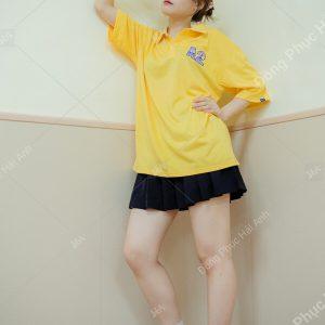 Mẫu áo lớp polo oversize màu vàng chanh