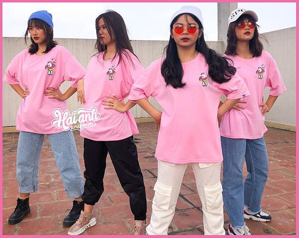 Áo lớp đẹp màu hồng