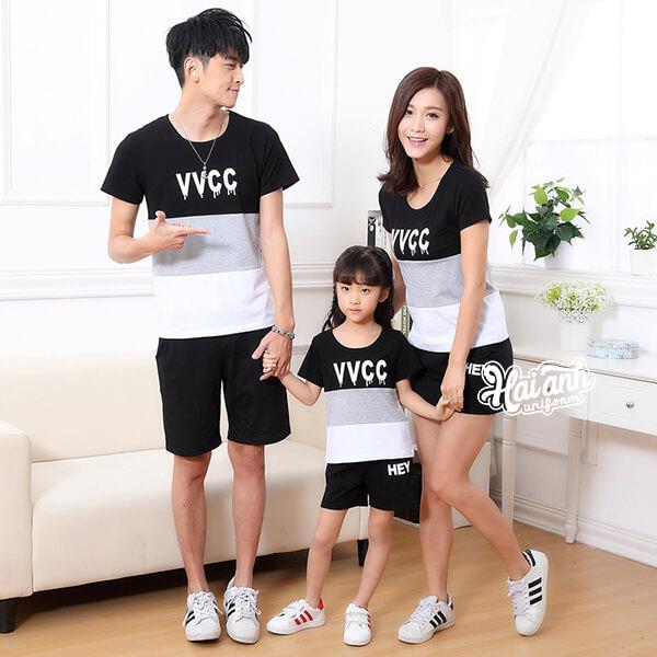 Mẫu áo nhóm gia đình đẹp 3 người