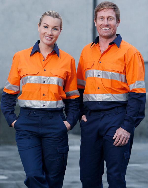 Chất liệu phản quang được ứng dụng rộng rãi khi may quần áo bảo hộ lao động