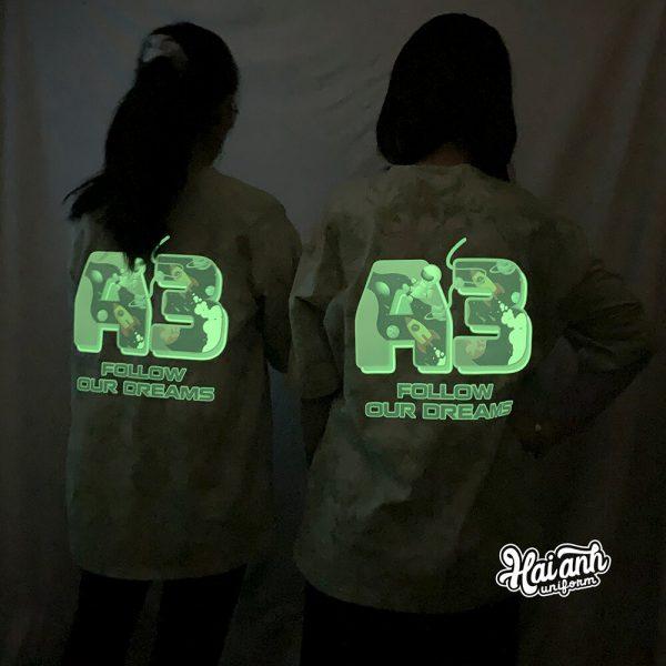 Mẫu áo lớp dạ quang A3 Follow our dream