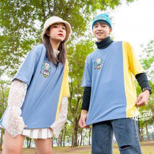 Mẫu áo lớp Colormix màu xám xanh + vàng lợt 10A6