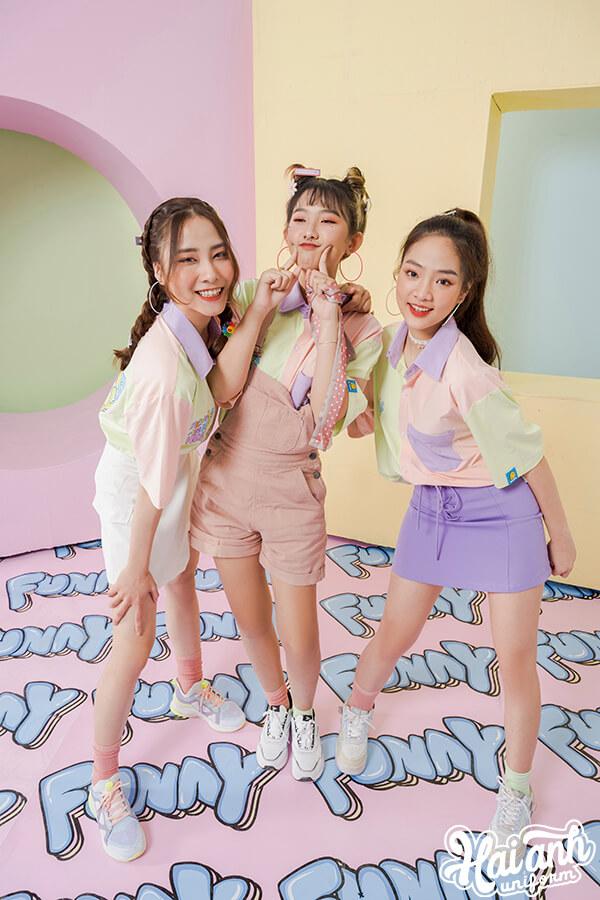 BST áo sơ mi lớp Funny với nhiều màu sắc đại diện cho những phong cách khác nhau
