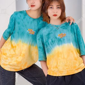 Mẫu áo lớp Patchy Ombre Xanh vàng