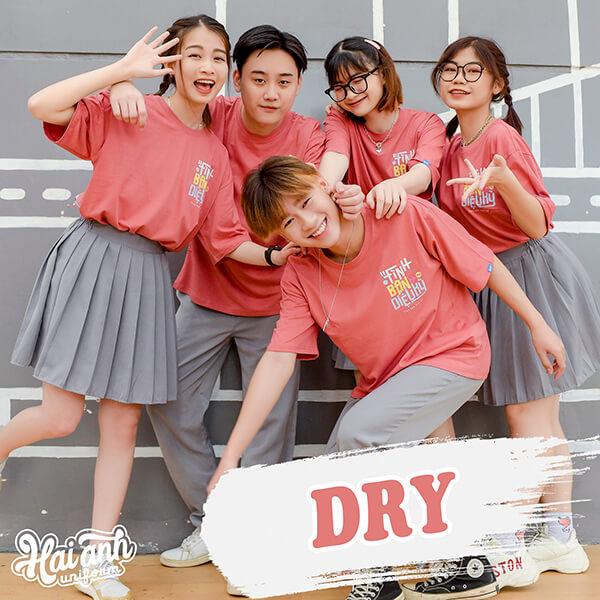 Mẫu áo lớp oversize Dry màu bã trầu