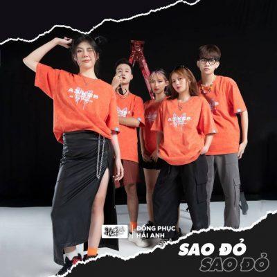 Áo lớp wash màu cam sao đỏ - một trong những thiết kế mới lạ, độc đáo nhất dành cho các bạn học sinh