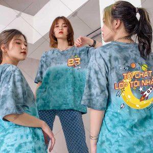 Áo Lớp Patchy Ombre Xanh Xám B3