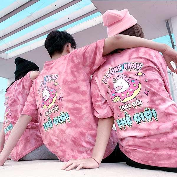 Áo Lớp Patchy Pinky Pinky A3 Cùng Nhau Thay Đổi Thế Giới