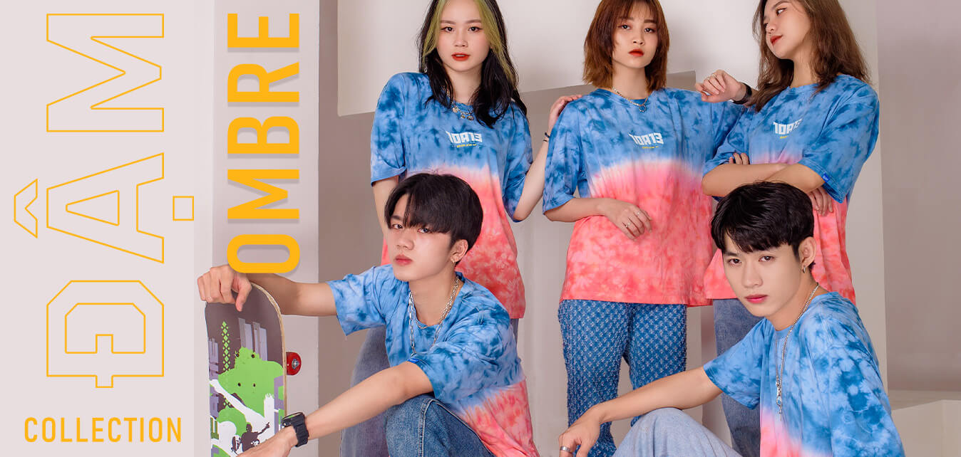 top banner áo lớp ombre